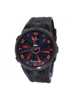 Perrelet Turbine XL Black DLC Stainless Steel Automatic Men's Watch A1051/2