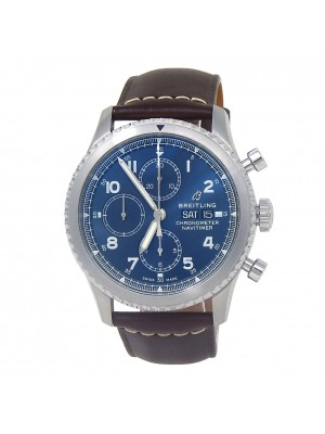 Breitling Navitimer 8 Day Date Stainless Steel Automatic Men's Watch A13314