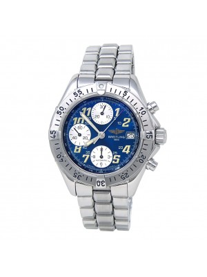 Breitling Colt Stainless Steel Chronograph Automatic Blue Men's Watch A13335