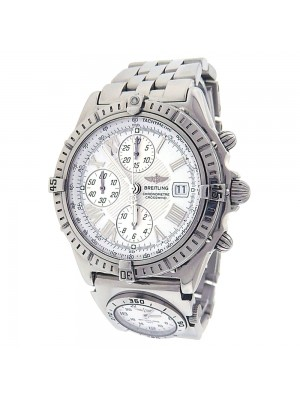 Breitling Crosswind A13355 Chronograph Stainless Steel Automatic White Men's Watch