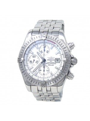 Breitling Chronomat Evolution Stainless Steel Mother of Pearl Men's Watch A13356