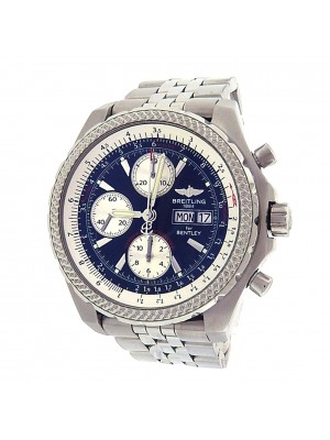 Breitling Special Edition Bentley GT A13363 Stainless Steel Chronograph Automatic Black Men's Watch