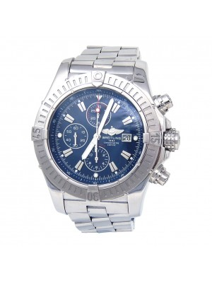 Breitling Super Avenger Stainless Steel Automatic Blue Dial Men's Watch A13370
