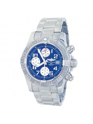 Breitling Avenger II Stainless Steel Automatic Blue Men's Watch A13381