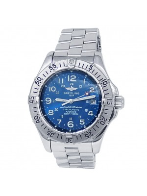 Breitling SuperOcean Stainless Steel Automatic Blue Men's Watch A17360