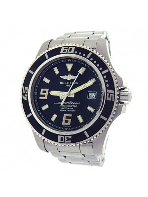 Breitling Superocean A17391 Stainless Steel Automatic Black Men's Watch