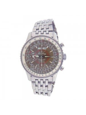 Breitling Montbrillant Datora Stainless Steel Automatic Chrono Mens Watch A21330