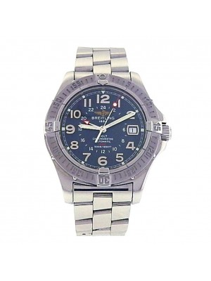 Breitling Colt GMT Stainless Steel Blue Dial Automatic Men's Watch A32350