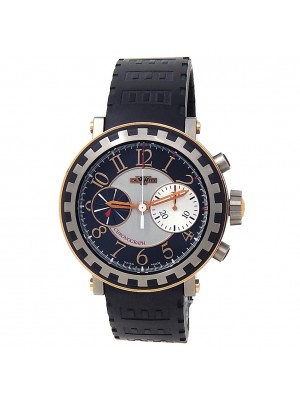DeWitt Academia 18k Rose Gold Titanium Black Silver Men's Watch AC.6005.53A.M003