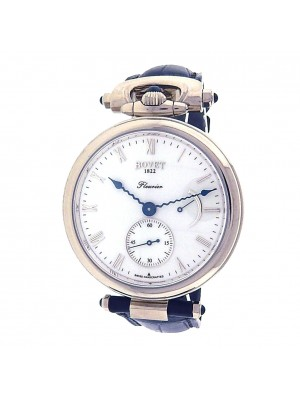 Bovet Amadeo Fleurier AF43030 18k White Gold Brown Leather Automatic White Men's Watch