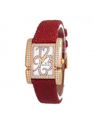 Milus Apiana 18k Rose Gold Quartz Ladies Watch API-Z01