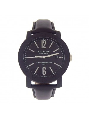 Bvlgari CarbonGold Black PVD Carbon Automatic Men's Watch BB 40 CL