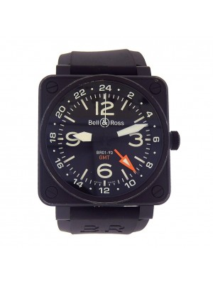 Bell & Ross BR01-93 Aviation GMT Black PVD Stainless Steel Automatic BR0193SO