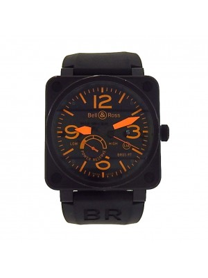 Bell & Ross BR01 BR01-97-SO Black PVD Stainless Rubber Auto Orange Men's Watch