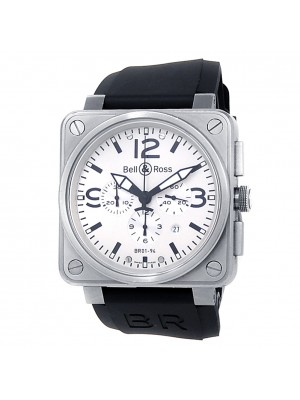 Bell & Ross Aviation BR01-94 Stainless Steel White Men's Watch BR0194-WT-ST-RS