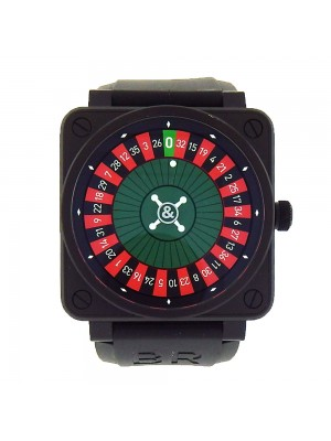 Bell & Ross BR01 Casino BR01-92 Black PVD Automatic Roulette Wheel Men's Watch