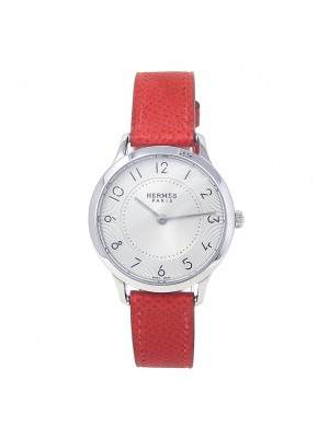 Hermes Slim Stainless Steel Swiss Quartz Ladies Watch CA2.210
