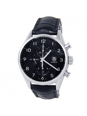 Tag Heuer Carrera Stainless Steel Leather Auto Black Men's Watch CAR2014.FC6235
