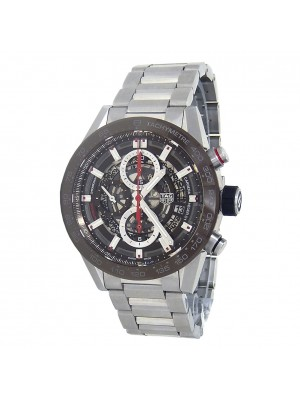 Tag Heuer Carrera Chronograph Stainless Steel Automatic Mens Watch CAR201UBA0766