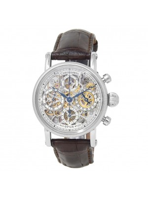 Chronoswiss Opus Stainless Steel Leather Automatic Skeleton Men's Watch CH 7523