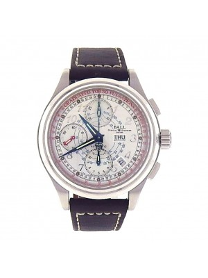 Ball Trainmaster Pulse Meter Day Date Automatic Chronograph Men's Watch CM1010D