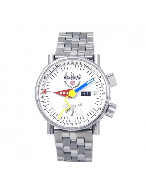 Alain Silberstein Le Reveil GMT Stainless Steel Men's Watch Automatic