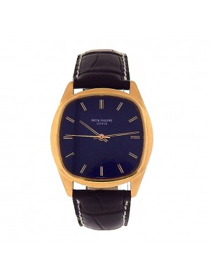 Men's Solid Gold Patek Philippe 70's Cushion Automatic Back Winding Dress Watch
