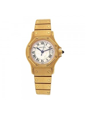 Cartier Panthere Date Display 18k Yellow Gold Automatic Ladies Watch