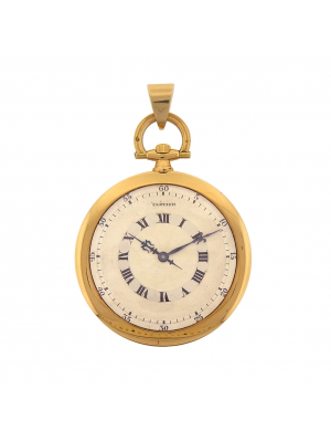 Cartier Art Deco 1940's Pocket Watch 18k Yellow Gold Manual Wind Pocket Watch
