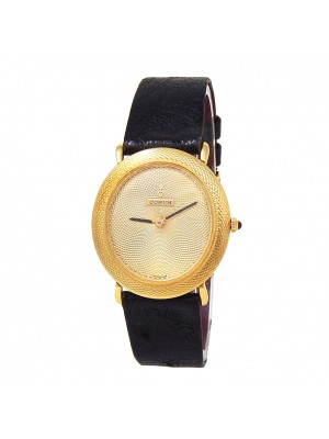 Corum Vintage Oval 18k Yellow Gold Hand Winding Men's Watch