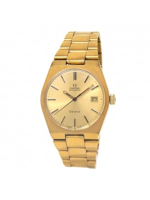 Omega Vintage 18k Yellow Gold Plated Men's Watch Automatic V