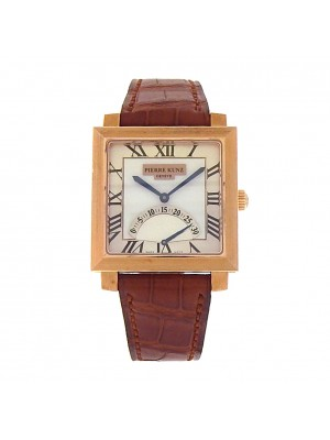 Pierre Kunz Spirit of Challenge E Q01 SR 18k Rose Gold Brown Leather Quartz Silver Ladies Watch