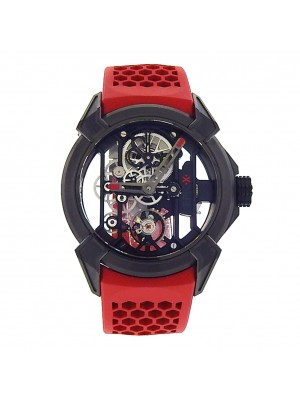Jacob & Co Epic X EX100.21.PS.OP.A Black PVD Titanium Red Manual Skeleton Watch