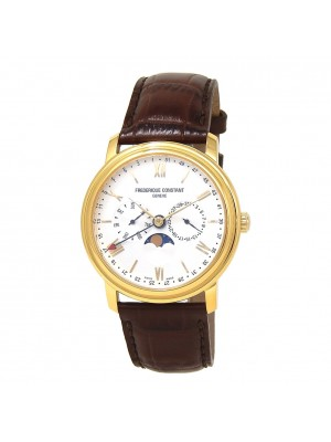 Frederique Constant Classics Business Timer Moonphase 18k Y/G Plated Steel Watch
