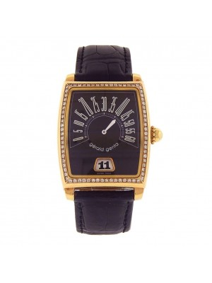 Gerald Genta Retro Solo 18k Yellow Gold Diamond Bezel Automatic Watch G.3671