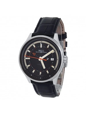 Ball BMW GMT Stainless Steel Leather Automatic Black Men's Watch GM3010C-LCFJ-BK