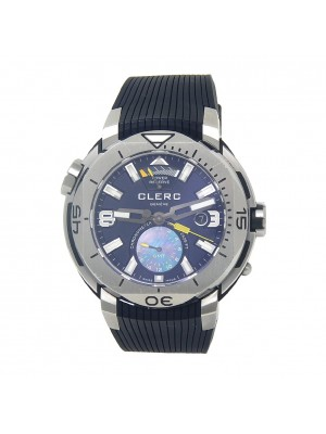 Clerc Hydroscaph GMT Power Reserve Chronometer Automatic Men's Watch GMT-1.4.4