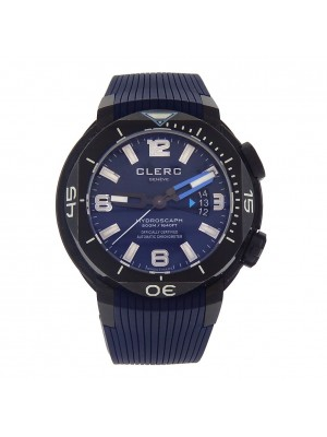 Clerc Hydroscaph H1 Black DLC Stainless Steel Automatic Men's Watch H1-4B.4.3