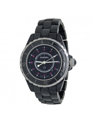 Chanel J12 Black Ceramic Quartz  Ladies Watch H1634