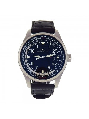 IWC Pilot's Worldtimer Stainless Steel Black Dial Automatic Men's Watch IW326201