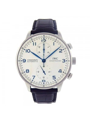 IWC Portuguese Stainless Steel Automatic Chronograph Men's Watch IW371446