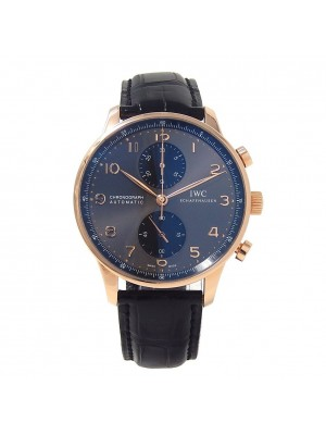 IWC Portuguese Chronograph 18K Rose Gold Automatic Men's Watch IW371482
