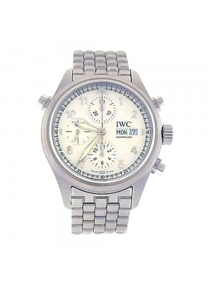 IWC Spitfire Stainless Steel Day Date Display Automatic Men's Watch IW371705