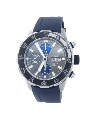 IWC Aquatimer Cousteau Stainless Steel Rubber Auto Grey Men's Watch IW376706