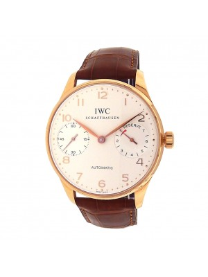 IWC Portuguese 7 Days Power Reserve IW500004 18k Rose Gold Automatic Men's Watch