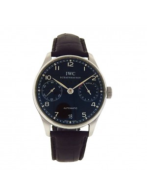 Men's Stainless Steel IWC Portugieser 7 Day Power Reserve Classic Dress Watch