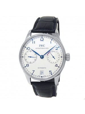 IWC Portugieser Stainless Steel Leather Automatic Silver Men's Watch IW500705