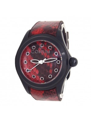 Corum Bubble 47 Red Python Black PVD Stainless Steel Automatic L082/02981
