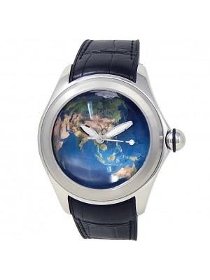 Corum Bubble Stainless Steel Black Rubber Automatic Blue Earth Watch L082/03081