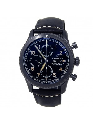 Breitling Navitimer 8 Stainless Steel Leather Automatic Black Men's Watch M13314